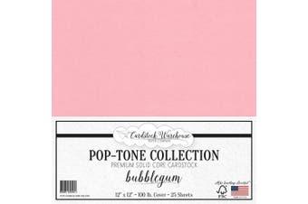 (Bubblegum) - Bubblegum Pink Cardstock Paper - 30cm x 30cm 45kg. Heavyweight Cover - 25 Sheets from Cardstock Warehouse