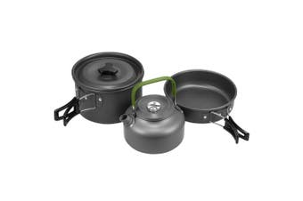 Terra Hiker Camping Cookware Kit, Nonstick, Lightweight Stackable Cooking Pots and Pans with Mesh Set Bag for Backpacking, Hiking and Picnic