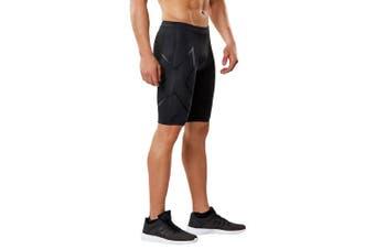(Small, Black/Nero) - 2XU Men's MCS Run Compression Shorts