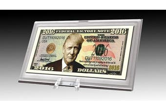Donald Trump 2016 Federal Victory Presidential Dollar Bill Limited Edition Desk Top Accessory In Best Currency Desktop Stand - Great Gift