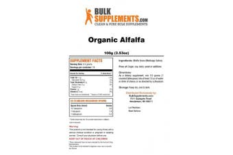 Organic Alfalfa Powder by Bulksupplements (100 grammes)