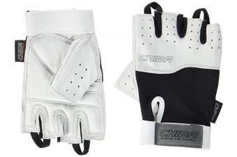 (Medium, Black/White) - Chiba Power Training Glove