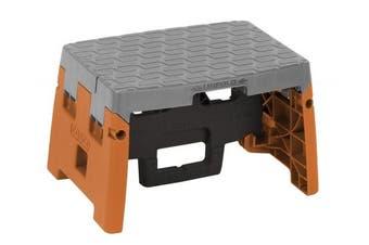 (Black, Orange, and Gray) - Cosco 1 Step Moulded Folding Step Stool, Type 1A, Black, Orange, and Grey