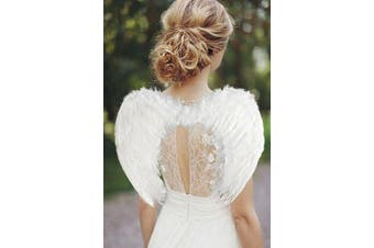 (White 45*35 Cm) - AISHN Angel Wings Feather Cosplay Halloween Party Costumes