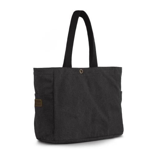SMRITI Canvas Tote Bag for School Work Travel and Shopping Black