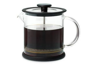 FORLIFE Cafe Style Glass Coffee/Tea Press, 470ml, Black