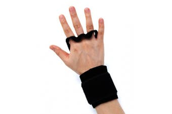 (Small, BLACK) - AEOLOS Leather Gymnastics Hand Grips-Great for Gymnastics,Pull up,Weight Lifting,Kettlebells and Crossfit Training