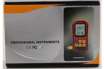 LCD Dual Channel Digital Thermometer with Two K- type Thermocouples for Industry, Agriculture, Meteorology and Daily Life etc