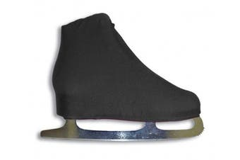 (Black) - A & R Sports Lycra Ice Skate Boot Covers