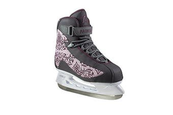 (8, Grey) - American Athletic Shoe Co.Women's American Soft Boot hockey Skate (Style may vary)