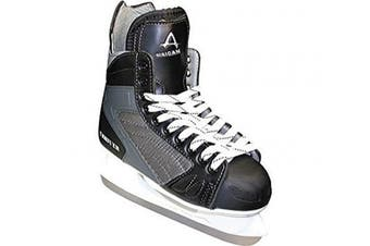 (4, Black) - American Athletic Shoe Boy's Ice Force Hockey Skates