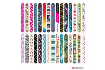 120 x NAIL FILES 60 DIFFERENT STYLES DOUBLE SIDED WHOLESALE UK