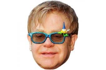 Elton John Celebrity Mask, Cardboard Face and Fancy Dress Mask