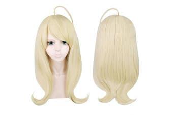 Cfalaicos Danganronpa Akamatsu Kaede Cosplay Wig Golden Long Synthetic Hair