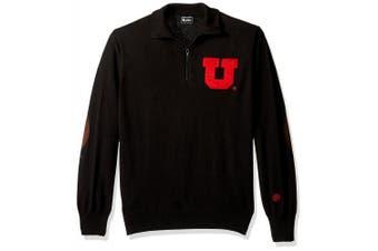 (Utah Utes, Large) - NCAA Boston University Terriers Men's Quarter Zip Sweater