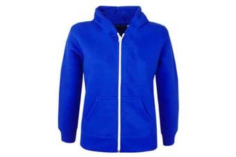(5-6 Years, Royal Blue New Style) - A2Z 4 Kids® Kids Girls & Boys Unisex Plain Fleece Hoodie Zip Up Style Zipper Age 5 6 7 8 9 10 11 121 3 Years