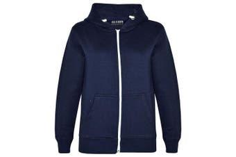 (5-6 Years, Navy New Style) - A2Z 4 Kids® Kids Girls & Boys Unisex Plain Fleece Hoodie Zip Up Style Zipper Age 5 6 7 8 9 10 11 121 3 Years
