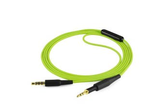 (Green with Mic and Volume Control) - AKG K430 K450 K451 K452 Q460 K480, JBL J55 J55a J55i J88 J88a J88i Headphone Replacement Cable / Audio Cord With Mic and Volume Control, Works With Apple, Android, Windows Phone