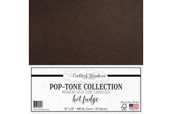(Hot Fudge) - HOT Fudge Brown Cardstock Paper - 30cm x 30cm 45kg. Heavyweight Cover - 25 Sheets from Cardstock Warehouse