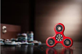 (Regular, Red) - Giggle Hands Fidget Spinner Toy Stress Reducer