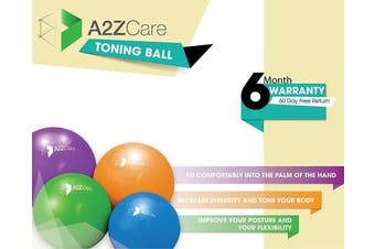 (Blue (2lbs)) - A2ZCARE Toning Ball - Soft Weighted Mini Ball/Medicine Ball