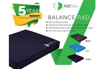 (Purple (Large)) - A2ZCare Premium Quality Balance Pad - Supper Soft Pad Provides A Non-Slip Textured Surface