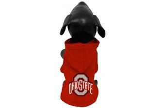 (Tiny) - NCAA Ohio State Buckeyes Cotton Lycra Hooded Dog Shirt