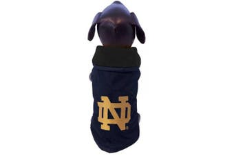 (Small) - NCAA Notre Dame Fighting Irish All Weather Resistant Protective Dog Outerwear