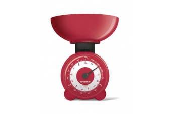 (Red) - Salter Orb Mechanical Kitchen Scale 139RDDR