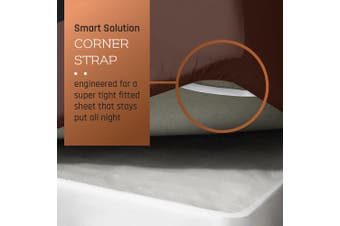 (King, Chocolate Brown) - Premium Fitted Sheet - Luxurious & Soft King Size Linen Fitted Chocolate Brown Sheets, Hypoallergenic Bedroom Essentials - The Only Extra Deep Pocket Super Fit Fitted Sheet with Smart Corner Straps