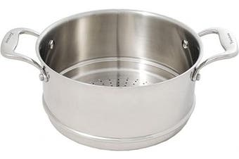 (25cm , Stainless Steel) - Tuxton Home THCCR1-SS9-B Concentrix, Steamer, Silver