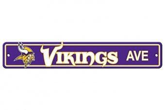 (Minnesota Vikings, 10cm  x 60cm , Street Sign) - Fremont Die NFL Arizona Cardinals Stop Sign