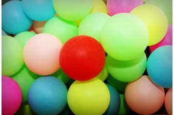 50 Assorted Beer Pong Balls - Ping-Pong Balls Washable Plastic (Colour)