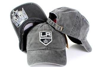 (Adjustable, Los Angeles Kings) - NHL American Needle New Raglin Cotton Twill Adjustable Dad Cap