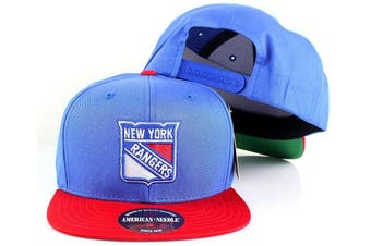 (Adjustable, New York Rangers) - American Needle NHL Outfield Retro Flat Brim Snapback Cap