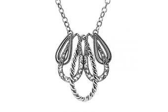 Carolyn Pollack Sterling Silver Drop Loop Necklace 17 to 50cm