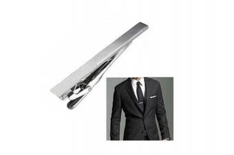 Men Stainless Steel Formal Simple Necktie Tie Bar Clasp Pinch Clip Clamp Sliver Colour