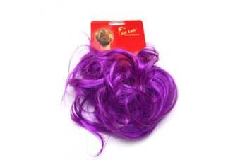 Ponyholder #Purple Scrunchy Scrunchie Bun Updo Hairpiece Hair Ribbon Ponytail Extensions Curly