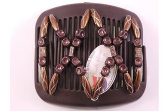 African Butterfly hair clip 1140 11cm Brown comb