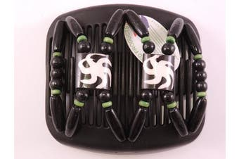 African Butterfly hair clip 3067 11cm Black comb