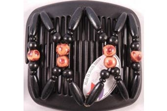 African Butterfly hair clip 3059 11cm Black comb