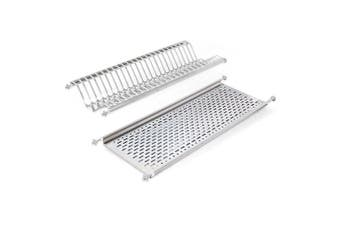 Emuca 8929965 Stainless Steel Dish Drying Rack for Standard 90cm-widht Kitchen Cabinet