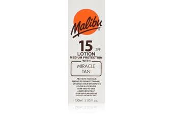 Malibu Sun Care Lotion with SPF 15 Miracle Tan 150 ml