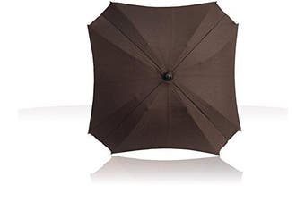 (brown) - Universal Pram Sun Parasol with Flexible Arm, Parasol with UV Protection, Diameter 68 cm,