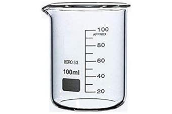 (100ml) - Rocwing 100ml Boro 3.3 Glass Graduated Measuring Beaker for Lab or Kitchen