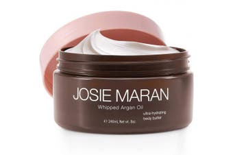 (8 fl oz./240 ml, Unscented) - Josie Maran Whipped Argan Oil Body Butter - Immediate, Lightweight, and Long-Lasting Nourishment to Soften and Hydrate Skin (240ml/8.0oz, Unscented)