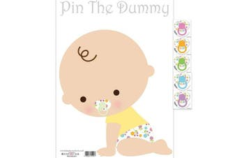 (White) - Pin The Dummy On The Baby Game For 24 Players Baby Shower Fun Game . White)