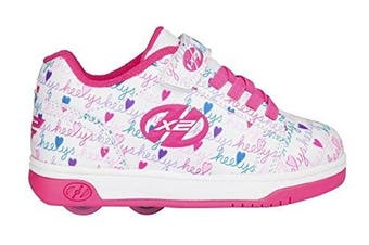 (UK 13jr / EU 32) - Heelys Dual Up X2 Shoes -White / Pink / Multi