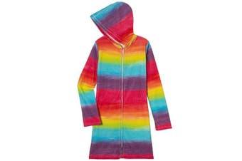 3C4G 29553 Rainbow Teens Hoodie Cover Up (6-8),,(S/M)
