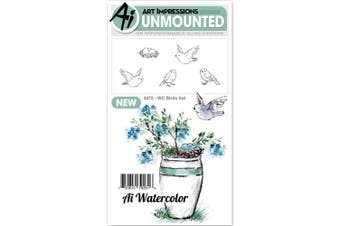Art Impressions Watercolour Cling Rubber Stamps